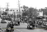 1948-49 - closeup of Shirley's Soda Shop east of Miami High School during President Truman's motorcade past Miami High