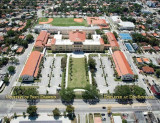 2015 - aerial photo of Miami High School after the 2013 extensive restoration project