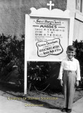1952/53 - Stephen Schweitzer at age 5 in front of Saint Mary's Catholic Church