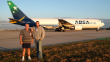 January 2008 - Don Boyd with Dan Brownlee and ABSA Cargo Boeing 767-316F(ER) PR-ABD waiting for takeoff clearance