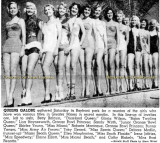 1951 or 1952 - Miami-area beauty queens galore posing at Bayfront Park