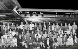 1954 - full size version of the 3rd shift maintenance crew with a new National DC-7 that set a transcontinental speed record
