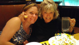 May 2016 - Karen with Brenda at the Cheesecake Factory at Park Meadows Mall