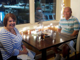 August 2016 - Karen and Don Boyd at the Waterfront Grille in New Bedford, Massachusetts