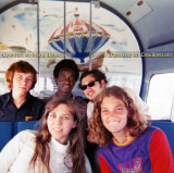 1972 - Nancy Kramer and Helen DeSchazio with Alfred Baucom, Rudy Brown and Irving Horowitz onboard the Goodyear Blimp Mayflower