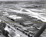 1952 - aerial view looking ESE at the 36th Street side of Miami International Airport