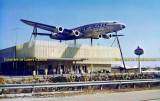Mid/late 1970's - Lockheed Constellation L-1049G mounted on top of the Oasis American gas station and gift shop on Tamiami Trail