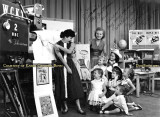 1957 - Karen Criswell and her brother Jim on Romper Room, WCKT-TV Channel 7