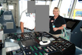 2008 - incognito friends with Karen on the bridge of the USCGC BERTHOLF at the Port of Miami