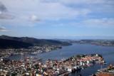 Panorama of Bergen, Norway.