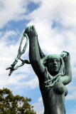Sculpture - Woman and Hair, Vigeland Park, Oslo, Norway.