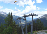 PARAGLIDER ABOVE THE CABLE CAR