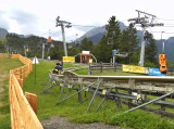 END OF THE ALPINE COASTER  .  1