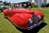1947 Delahaye 135M Roadster by Figoni et Falaschi, owners: Robert & Sandra Bahre, Alton, NH -- The Hotel Hershey Award (7413)