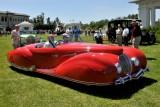 1947 Delahaye 135M Roadster by Figoni et Falaschi, owners: Robert & Sandra Bahre, Alton, NH -- The Hotel Hershey Award (7414)