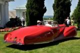 1947 Delahaye 135M Roadster by Figoni et Falaschi, owners: Robert & Sandra Bahre, Alton, NH -- The Hotel Hershey Award (7416)