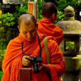 Monk with Leica