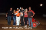 8-23-14 Placerville Speedway: BCRA Midgets  - Nor Cal Modifieds - Dwarf Cars