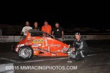 10-8-16 Stockton 99 Speedway: BCRA Midgets - King of the wing - NCMA
