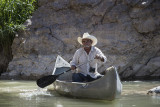 Jesus, the singing Mexican at Boquillas Canyon