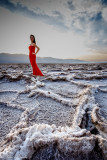 Mystery girl at Salt Flats