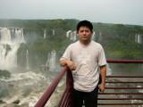 Peter Jiao in Iguassu Falls