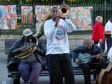 Glen David Andrews on the street in New Orleans