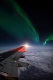 Aurora Borealis as seen from the 737