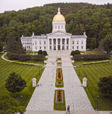 The Capitol Through a Screen in Vermont
