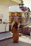 Old Woman at Temple