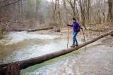 Susie Patrick crosses Spaas Creek