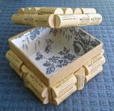 Inside of trnket box covered with wine corks