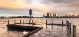 Perth and the Swan River at Sunrise, 1st August 2011