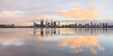 Perth and the Swan River at Sunrise, 27th October 2011