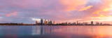 Perth and the Swan River at Sunrise, 30th April 2012