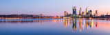 Perth and the Swan River at Sunrise, 22nd May 2012