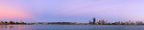 Perth and the Swan River at Sunrise, 6th February 2013