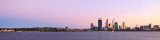 Perth and the Swan River at Sunrise, 25th May 2013