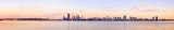 Perth and the Swan River at Sunrise, 5th February 2014
