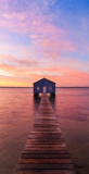 Crawley Edge Boatshed at Sunrise, 8th April 2014