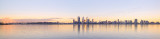 Perth and the Swan River at Sunrise, 11th May 2014