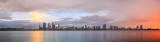 Perth and the Swan River at Sunrise, 18th May 2014
