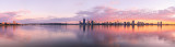 Perth and the Swan River at Sunrise, 28th May 2014
