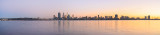 Perth and the Swan River at Sunrise, 11th June 2014