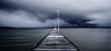 Storm Approaching Como Jetty at Sunrise, 2nd July 2014