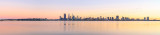 Perth and the Swan River at Sunrise, 10th July 2014