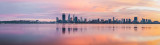 Perth and the Swan River at Sunrise, 17th August 2014