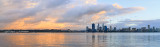 Perth and the Swan River at Sunrise, 19th August 2014