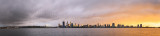Perth and the Swan River at Sunrise, 26th August 2014