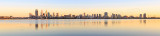 Perth and the Swan River at Sunrise, 7th October 2014